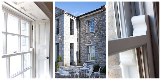 McNally Cream sliding sash windows