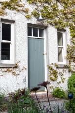 TG&V sheeted door with fanlight