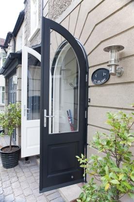 Dual colour front entrance doors