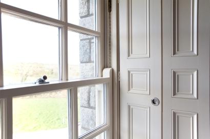 Three panel folding shutters