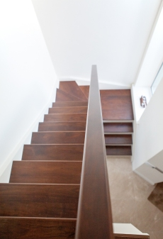 Walnut treads and handrail