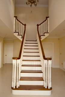 Walnut and cream staircase
