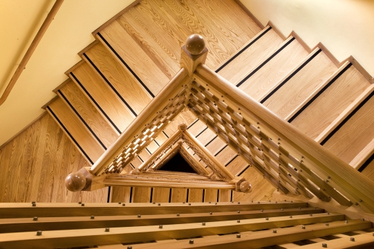 Ash triangular staircase