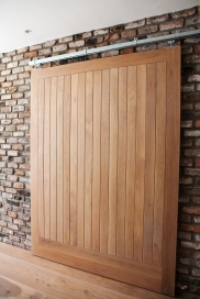 Sheeted internal sliding door