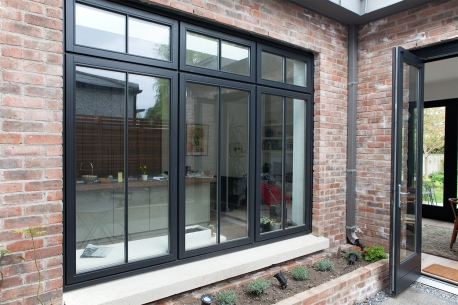 Courtyard casement style window and bi-fold door