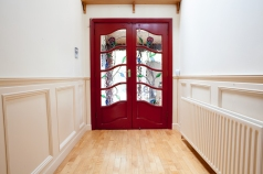 Hall doors with stained glass