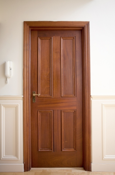 Four panel mahogany internal door