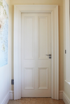 Internal four panel door with architrave and liners