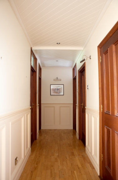 Mahogany hall doors