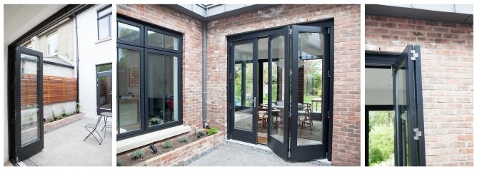 Courtyard bi-fold doors