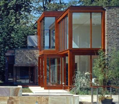Three pivot doors and screens