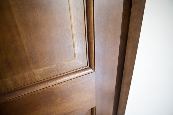 Ovolo moulding with raised and fielded panels