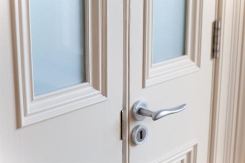 Half size double doors