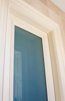 White opal glass in bathroom screen