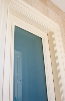 White opal glass in bathroom screen