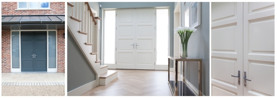 Dual colour front double doors