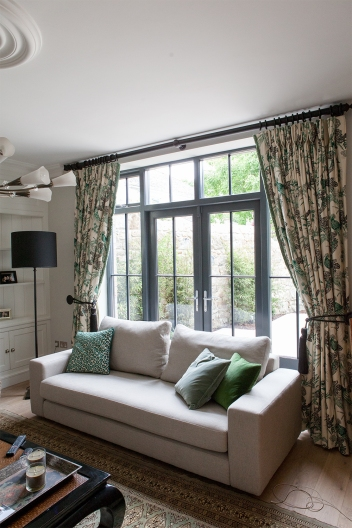 French doors, double side screen and fanlight