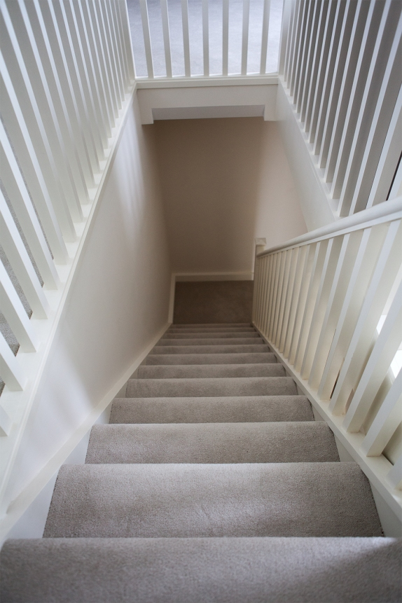 Attic staircase and landing return