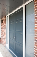 Dual colour front double doors and screen