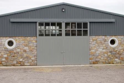 Oversized stable doors with TG&V sheeting