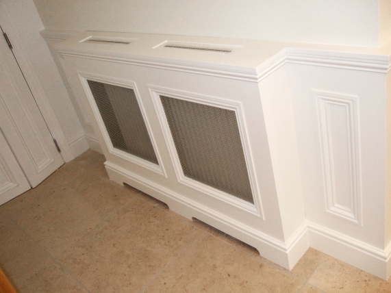 Bespoke radiator cover and wall panelling