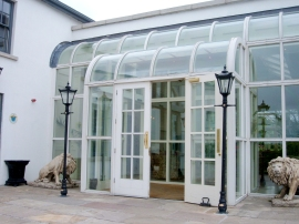 Barberstown Castle entrance by McNally Joinery