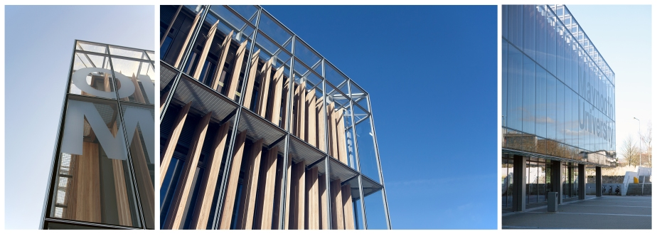 Bespoke Iroko louvres for Maynooth University Library