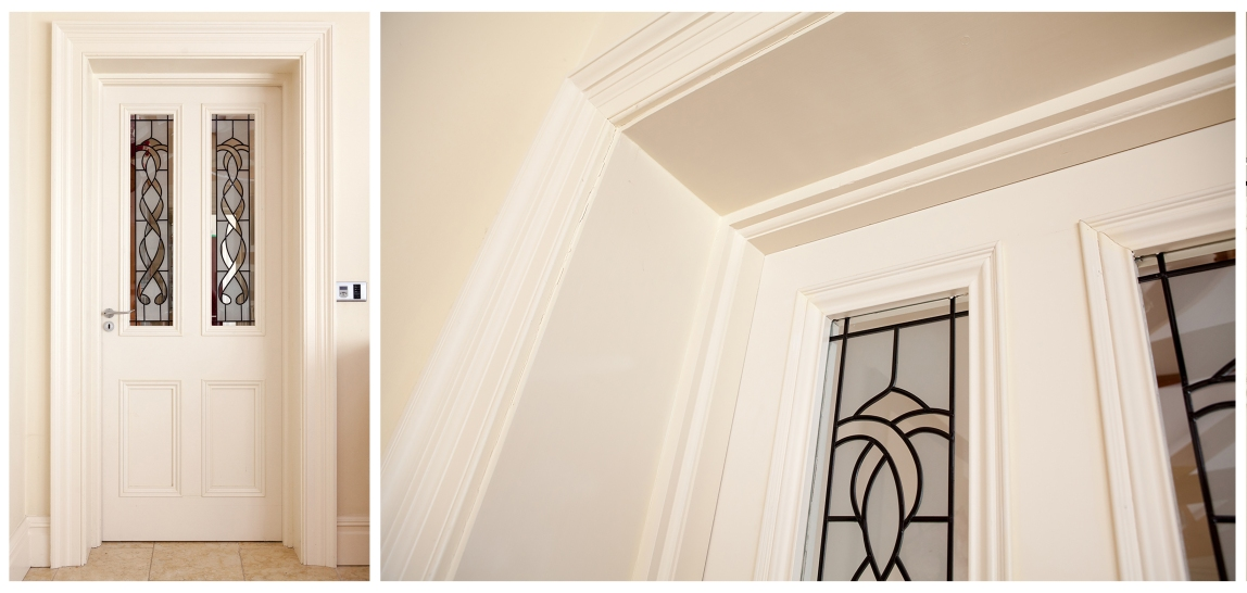 Internal doors with liners and two part architrave