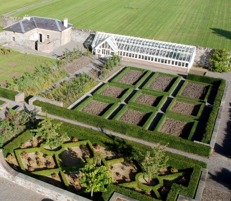Aerial view of McNally Joinery bespoke greenhouse